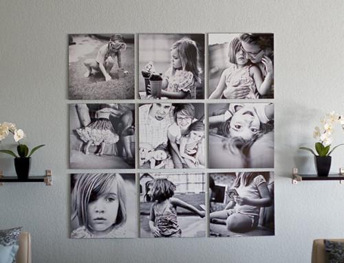 Decorare le pareti con le vostre foto di famiglia