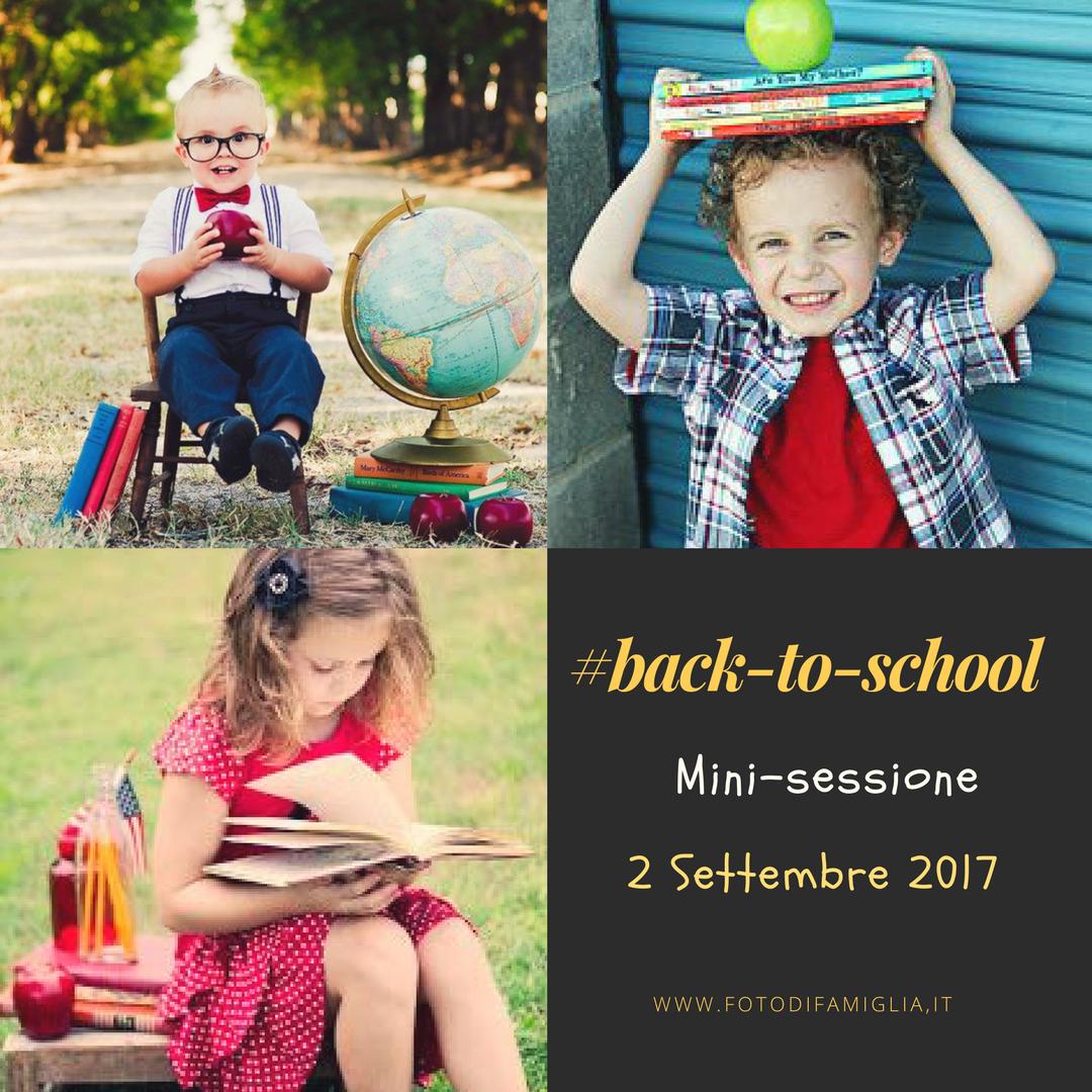Back-to-school mini sessione fotografica