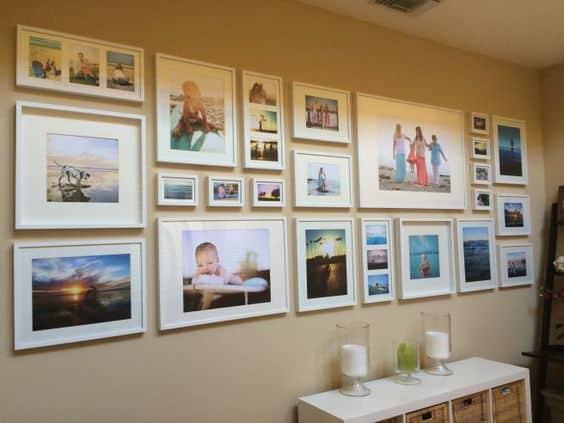 decorare con le foto di famiglia