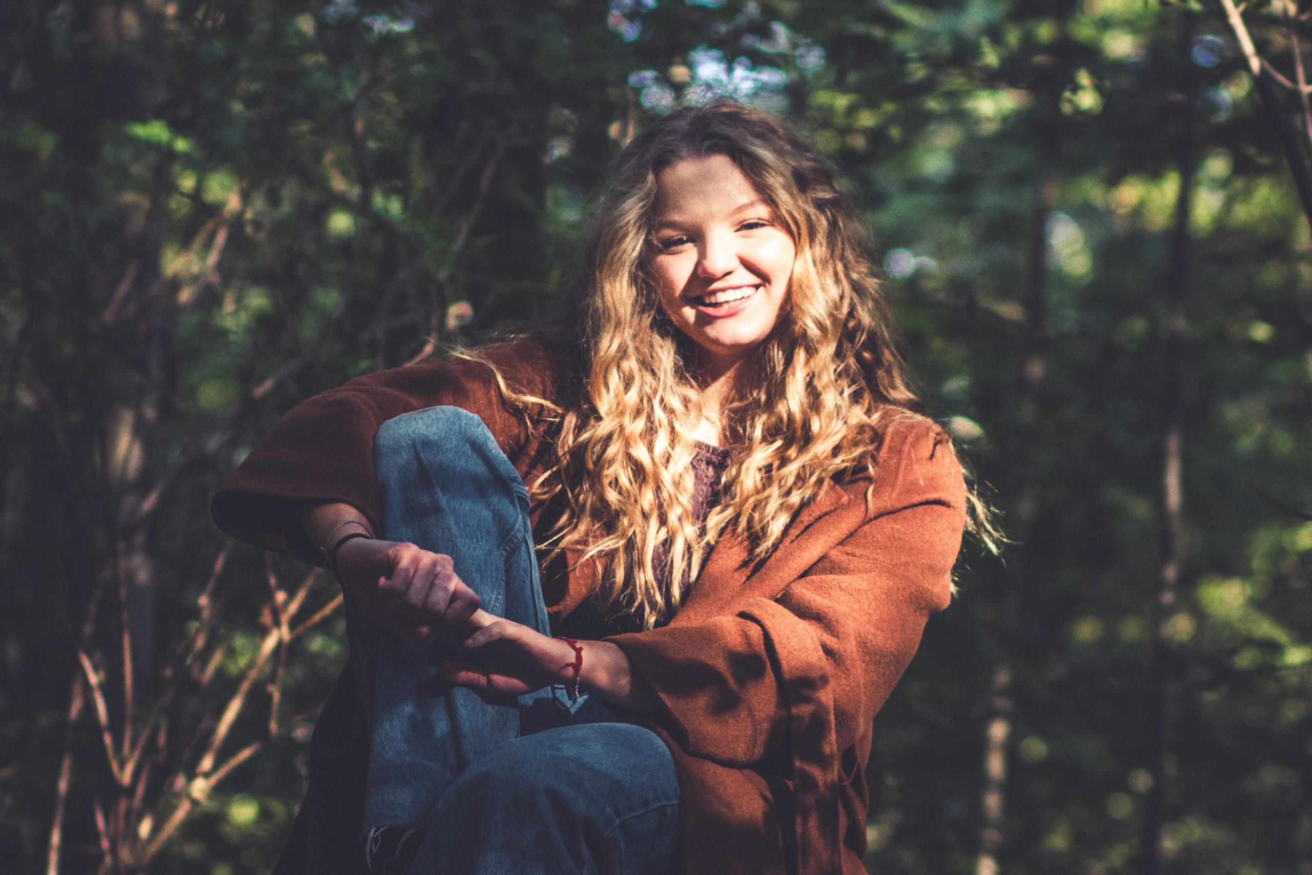 servizio fotografico nel bosco